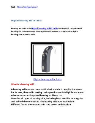 Digital hearing aid in India