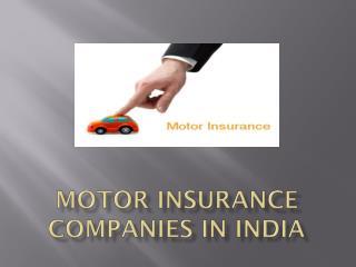 Motor insurance companies in india