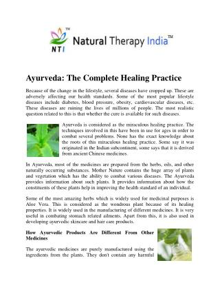 Natural Therapy In India