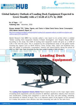 Global Industry Outlook of Loading Dock Equipment