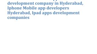 Possibillion Android Application development company in Hyderabad, Iphone Mobile app developers Hyderabad, Ipad apps dev