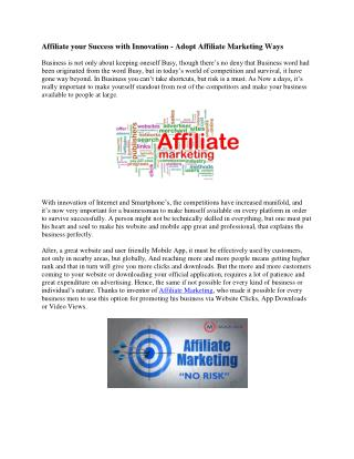Adopt Affiliate Marketing in Hongkong