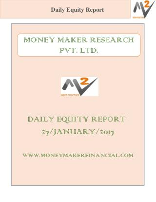 DAILY EQUITY REPORT 27/JANUARY/2017