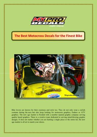 The Best Motocross Decals for the Finest Bike