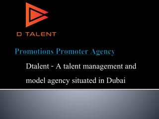 Promotions promoter agency in Dubai