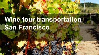 Wine tour transportation San Francisco