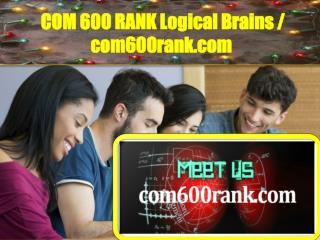 COM600RANK Logical Brains / com600rank.com