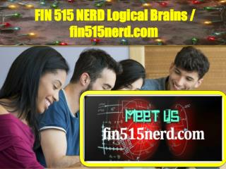 FIN515NERD Logical Brains / fin515nerd.com