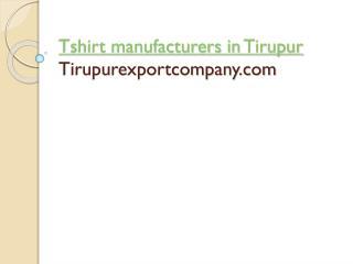 Tshirt Manufacturers in tirupur