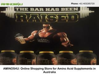 AMINOS4U: Online Shopping Store for Amino Acid Supplements in Australia