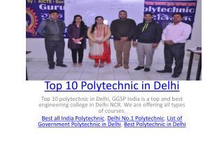 Top 10 Polytechnic in Delhi