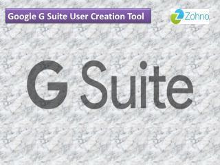 Google G Suite User Creation Tool