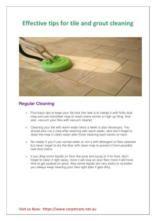 Effective tips for tile and grout cleaning
