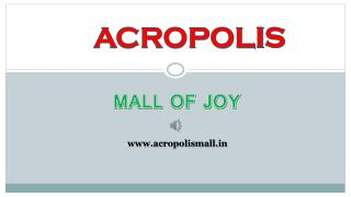 The Favourite Mall of Kolkata - Acropolis Mall