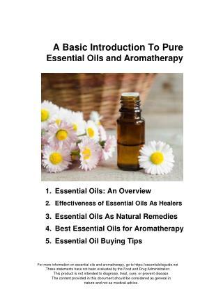A Basic Introduction To Pure Essential Oils Aromatherapy