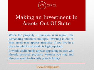 Making an Investment in Assets Out Of State