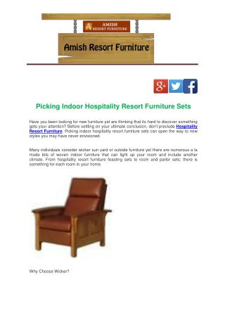 Picking Indoor Hospitality Resort Furniture Sets