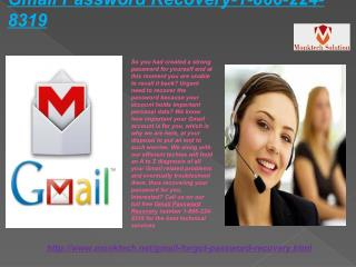 Gmail Password Recovery issue includes? Don't get panic, call at 1-866-224-8319  toll-free numbers