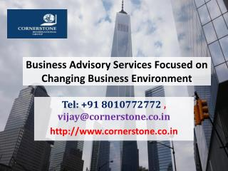 Business Advisory Services Focused on Changing Business Environment