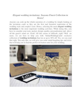 Elegant wedding invitations: Seasons Finest Collection in Stores!