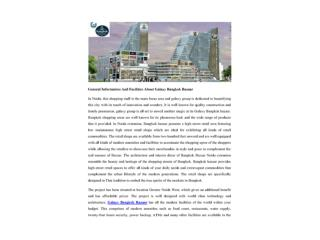 General Information And Facilities About Galaxy Bangkok Bazaar
