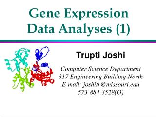 Gene Expression Data Analyses 1