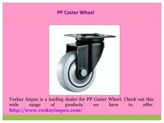 Caster Wheel Suppliers
