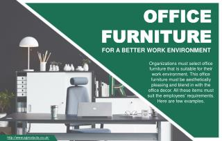 Improve Working Environment With Office Furniture