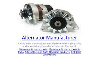 Alternator Manufacturer