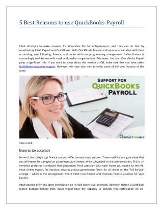 5 reasons to use quick books payroll