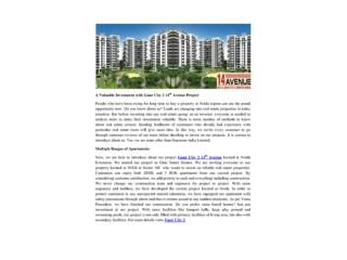 A Valuable Investment with Gaur City 2 14th Avenue Project