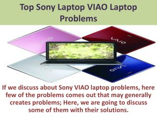 Best Sony Viao Laptop Problems With Its Solutions