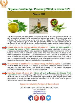 How to Use Neem Oil for Gardening in a Proper Way ?