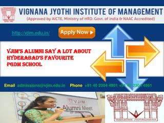 VJIM'S ALUMNI SAY A LOT ABOUT HYDERABAD'S FAVOURITE PGDM SCHOOL