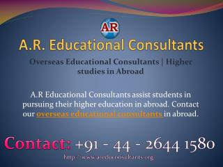 Overseas Educational Consultants | Higher studies in Abroad