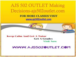 AJS 502 OUTLET Making Decisions-ajs502outlet.com