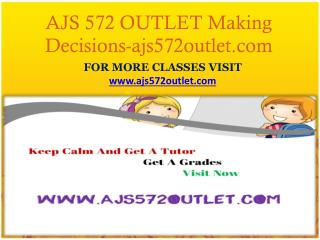 AJS 572 OUTLET Making Decisions-ajs572outlet.com