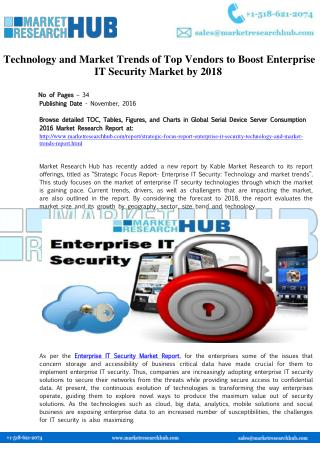 Enterprise IT Security Market Trends and Research Report