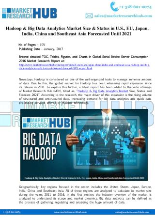 Hadoop & Big Data Analytics Market Size & Status Report