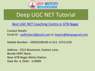 UGC NET Tutorials