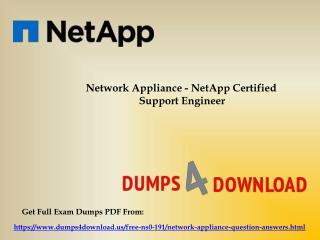 Preparing Tips For NS0-191 Final Exam - Dumps4Download