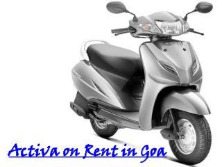 Activa on Rent in Goa