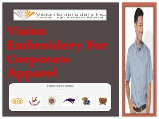Vision Embroidery For Corporate Apparel