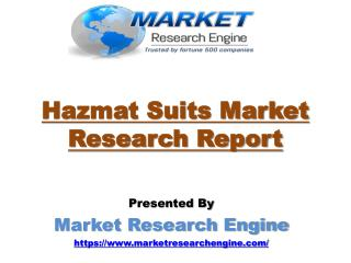 Hazmat Suits Market to Cross US$ 8.0 Billion by 2022