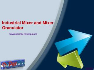 Industrial Mixer and Mixer Granulator