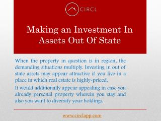 Making an funding in belongings Out Of State – CIRCL