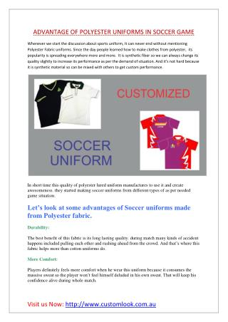 ADVANTAGE OF POLYESTER UNIFORMS IN SOCCER GAME
