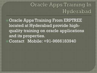 Oracle Apps Training in Hyderabad