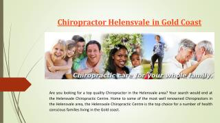 Chiropractor Helensvale in Gold Coast