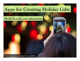 Holiday Apps to Create Gifts